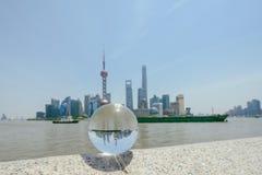 浦东新的地区地平线,上海,中国 库存图片