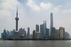 浦东-上海,中国地平线  库存照片