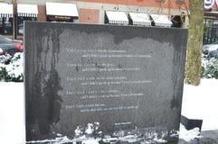 浩劫纪念品在波士顿, 2016年12月11日的美国 图库摄影