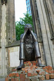 浩劫纪念品,幸存者,哀情,圣尼古拉教会,汉堡,德语 免版税图库摄影