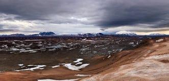 浩大的冰岛风景 库存照片