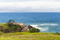 浩大的天际视图拷贝空间在俄勒冈海岸的 库存图片