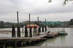 浩大的弗拉塞尔河 库存照片