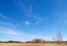 浩大科罗拉多开放超出大草原的天空 免版税库存照片