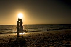 浪漫下午的夫妇 库存照片