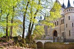 浪漫古老城堡Marienburg 图库摄影