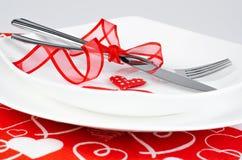 浪漫吃饭的客人 图库摄影