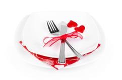 浪漫吃饭的客人 免版税库存照片