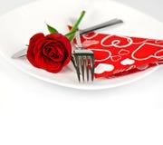 浪漫吃饭的客人 免版税图库摄影
