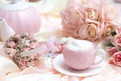浪漫咖啡具 库存图片