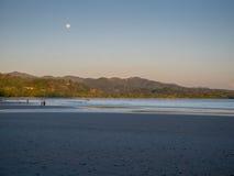 浪漫在海滩 免版税库存照片