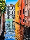 浪漫场面在威尼斯,意大利 库存图片