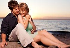 浪漫夫妇的爱 库存照片
