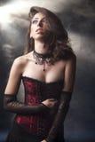 浪漫女孩的goth 库存照片