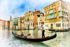 浪漫威尼斯 库存照片