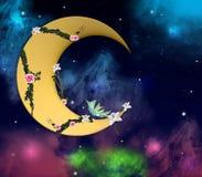 浪漫新月形的月亮 免版税库存照片