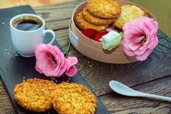 浪漫早餐概念 库存图片
