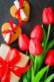 浪漫构成为情人节、生日或者母亲节 免版税库存照片