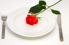 浪漫概念的正餐 免版税图库摄影