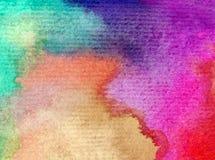 浪漫水彩艺术背景摘要五颜六色的织地不很细天空花百合的春天 免版税库存图片
