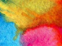 浪漫水彩艺术背景精美五颜六色的自然天空太阳的sunsetfresh 免版税库存图片
