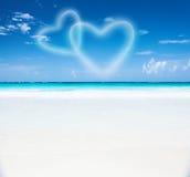 浪漫海滩胜地 图库摄影