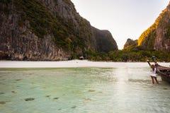 浪漫海滩 库存图片