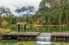 浪漫湖Schiederweiher 库存照片