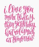 浪漫爱字法印刷术 向量例证