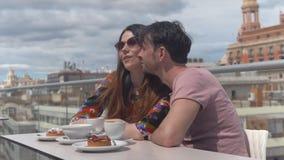 浪漫片刻在巴伦西亚 股票视频