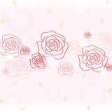 浪漫玫瑰色背景 库存照片