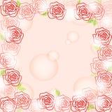 浪漫玫瑰色背景 免版税库存照片