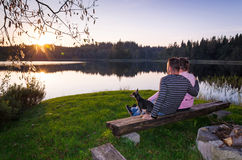 浪漫瑞典晚上 免版税图库摄影