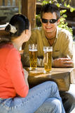 浪漫的啤酒 免版税库存照片