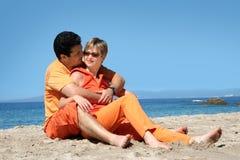 浪漫的夫妇 免版税库存图片