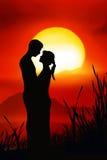 浪漫的夫妇 库存照片