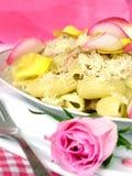 浪漫的意大利面食 库存图片