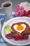浪漫的早餐 库存照片