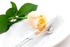 浪漫的正餐 库存图片