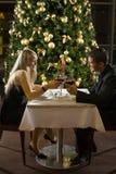 浪漫的正餐 库存照片