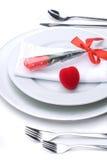 浪漫的正餐 免版税库存图片