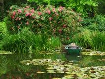浪漫的池塘 免版税库存图片