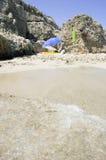 浪漫的海滩 免版税图库摄影