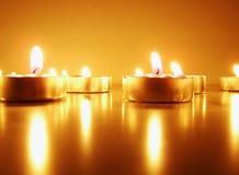 浪漫的蜡烛 图库摄影