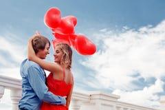 浪漫的订婚 免版税库存照片