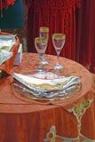 浪漫的餐馆 免版税库存照片