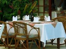 浪漫的餐馆 库存照片