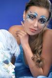 浪漫秀丽蓝色狂欢节的屏蔽 免版税库存图片