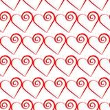 浪漫红色心脏样式 假日设计的传染媒介例证 库存图片