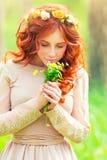 浪漫美丽的女孩 库存照片